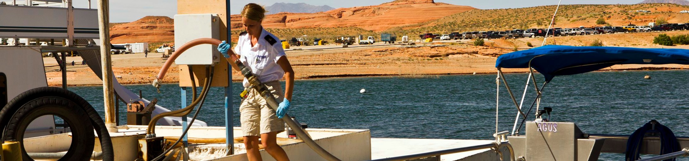 Pump Out Marina Service on Lake Powell