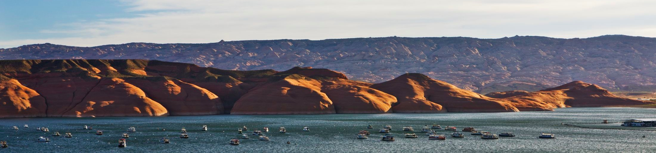 Bullfrog Marina Services Buoy Field at Lake Powell